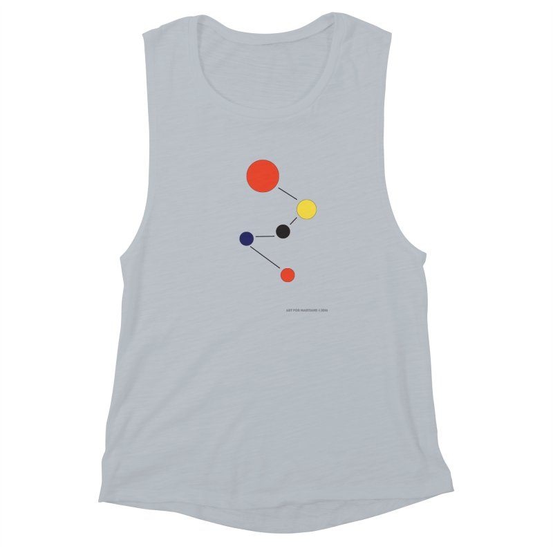 5 Planets Women's Muscle Tank by SuperOpt Shop