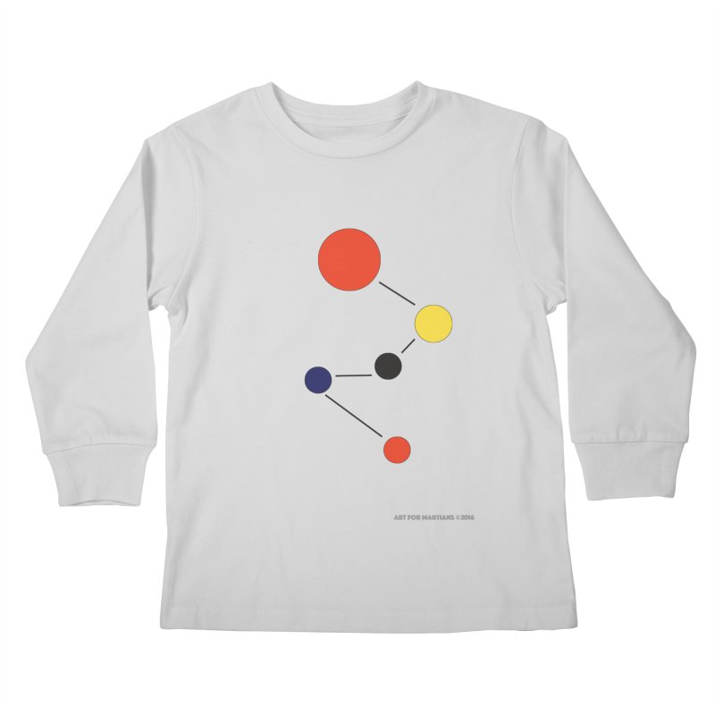 5 Planets Kids Longsleeve T-Shirt by SuperOpt Shop