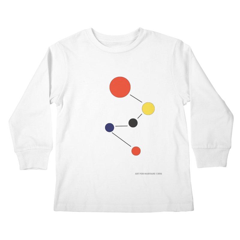 5 Planets Kids Longsleeve T-Shirt by SuperOpt Shop