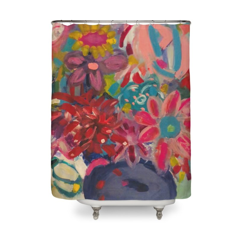 Hippie Flowers. Always about the Love. Home Shower Curtain by Art Gallery By Z