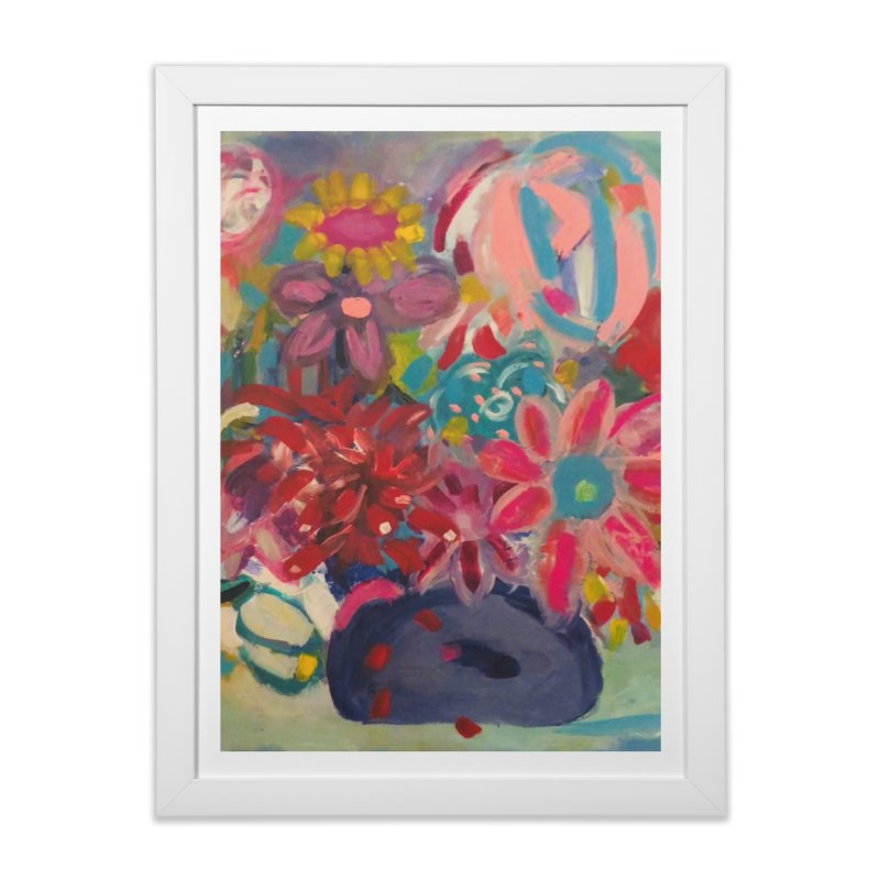 Hippie Flowers. Always about the Love. Home Framed Fine Art Print by Art Gallery By Z