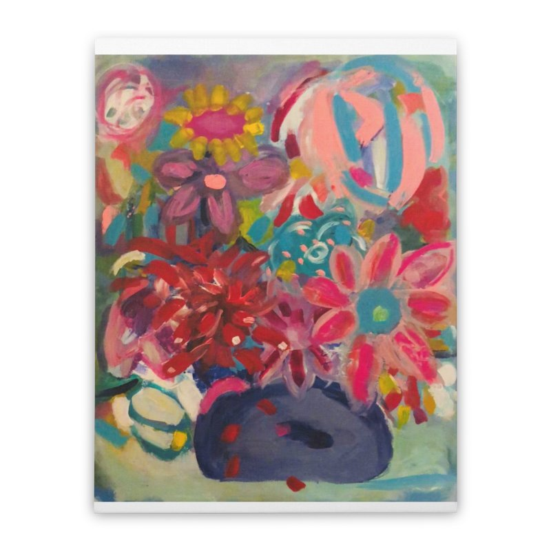 Hippie Flowers. Always about the Love. Home Stretched Canvas by Art Gallery By Z