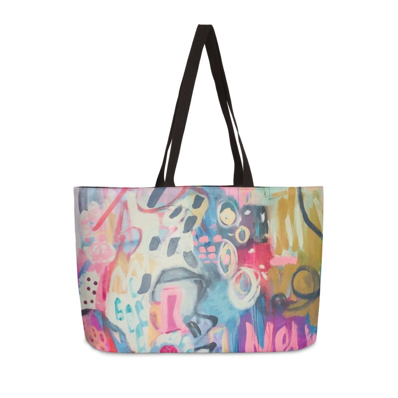 She could drag me over a rainbow. Accessories Bag by Art Gallery By Z