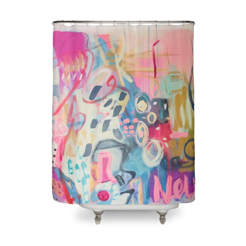 She could drag me over a rainbow. Home Shower Curtain by Art Gallery By Z