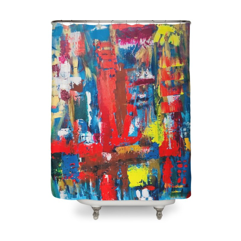 Swim Lane. Home Shower Curtain by Art Gallery By Z