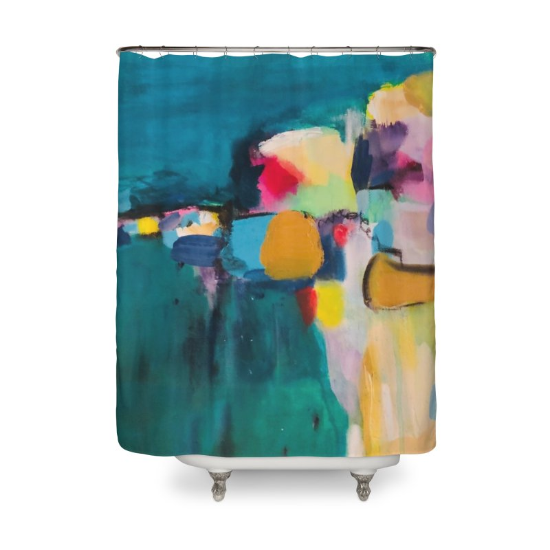 Dive in the Water is Warm. Home Shower Curtain by Art Gallery By Z