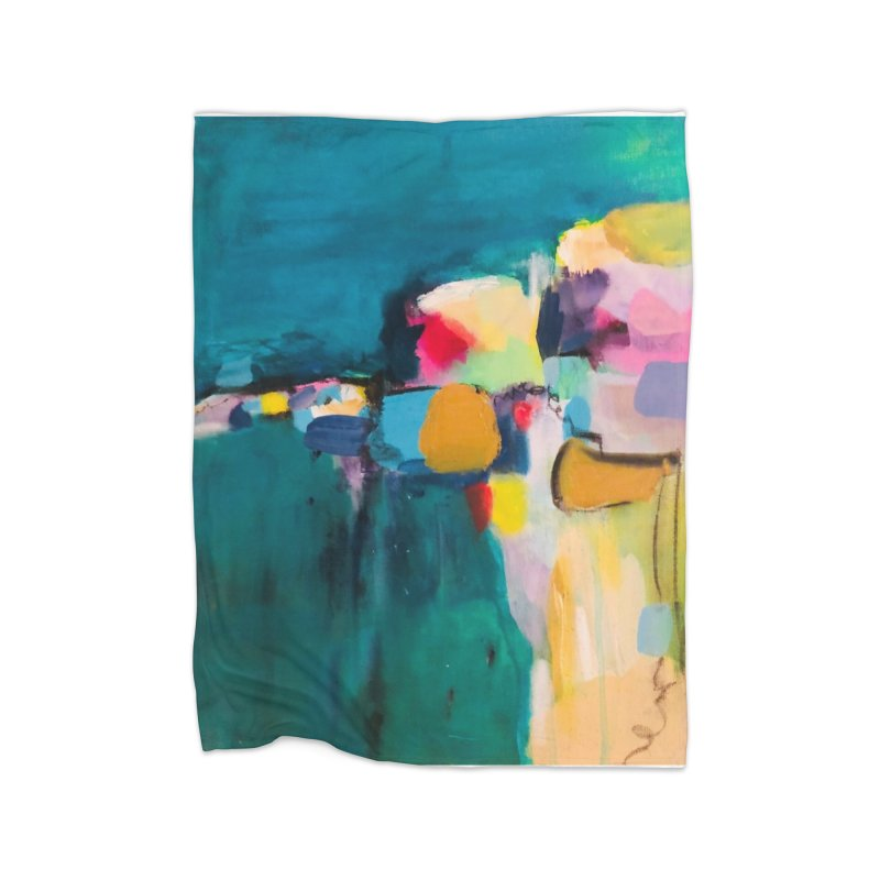 Dive in the Water is Warm. Home Fleece Blanket Blanket by Art Gallery By Z