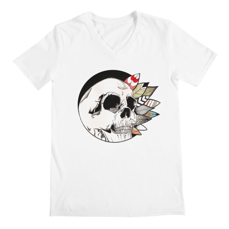 Indie Skull Men's V-Neck by artichoke's Artist Shop