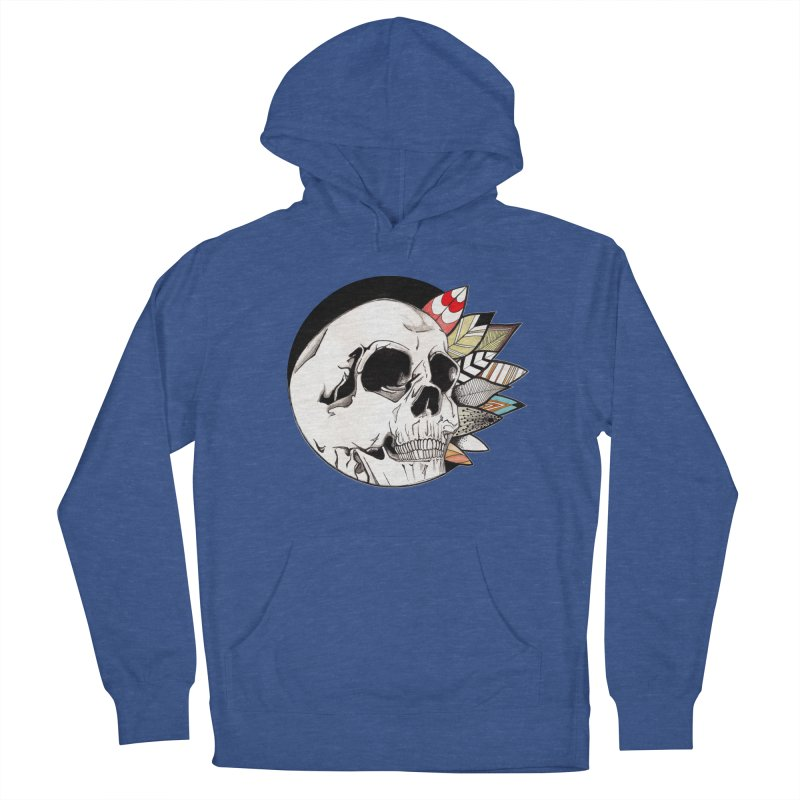 Indie Skull Men's French Terry Pullover Hoody by artichoke's Artist Shop
