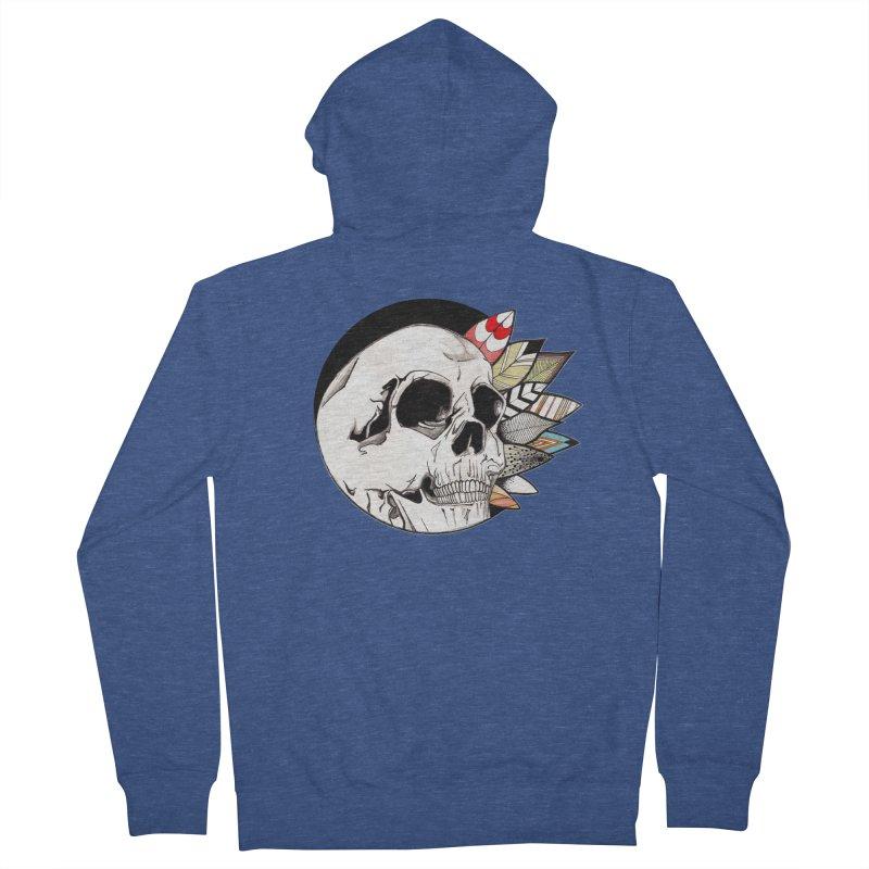 Indie Skull Men's French Terry Zip-Up Hoody by artichoke's Artist Shop