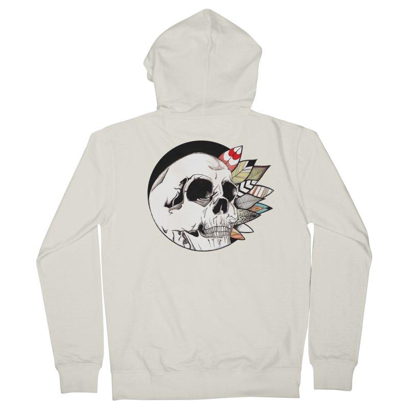 Indie Skull Men's Zip-Up Hoody by artichoke's Artist Shop