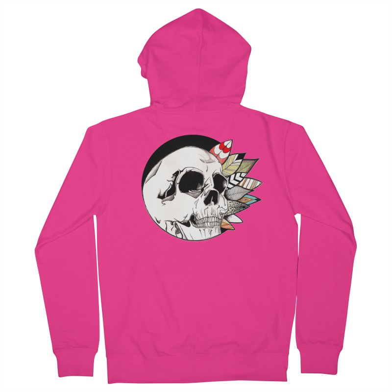 Indie Skull Men's Zip-Up Hoody by artichoke's Artist Shop