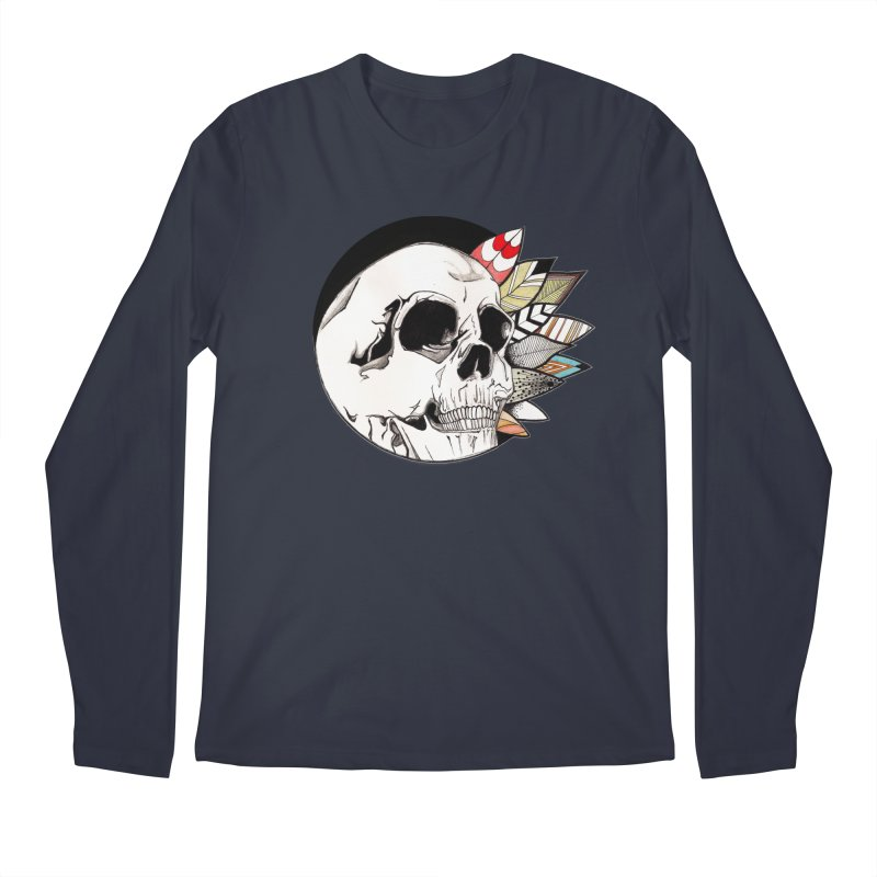 Indie Skull Men's Regular Longsleeve T-Shirt by artichoke's Artist Shop