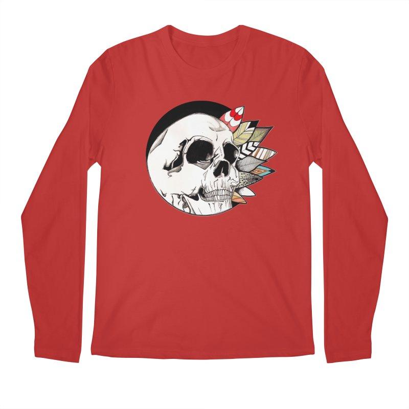 Indie Skull Men's Regular Longsleeve T-Shirt by artichoke's Artist Shop