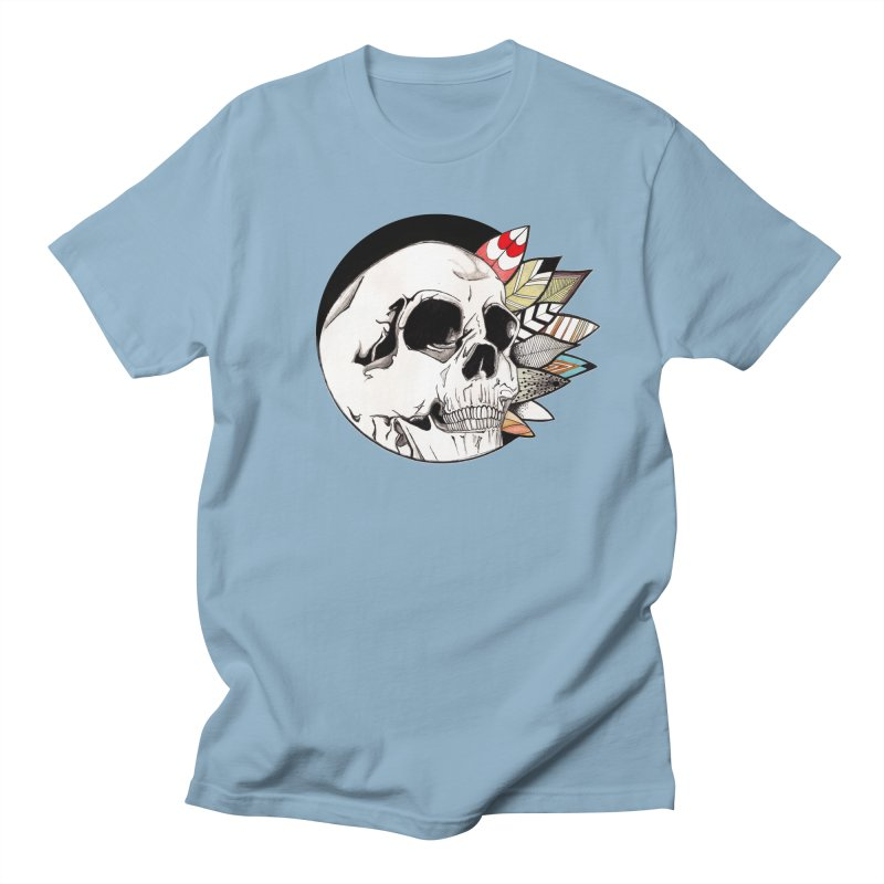 Indie Skull in Men's T-shirt Light Blue by artichoke's Artist Shop