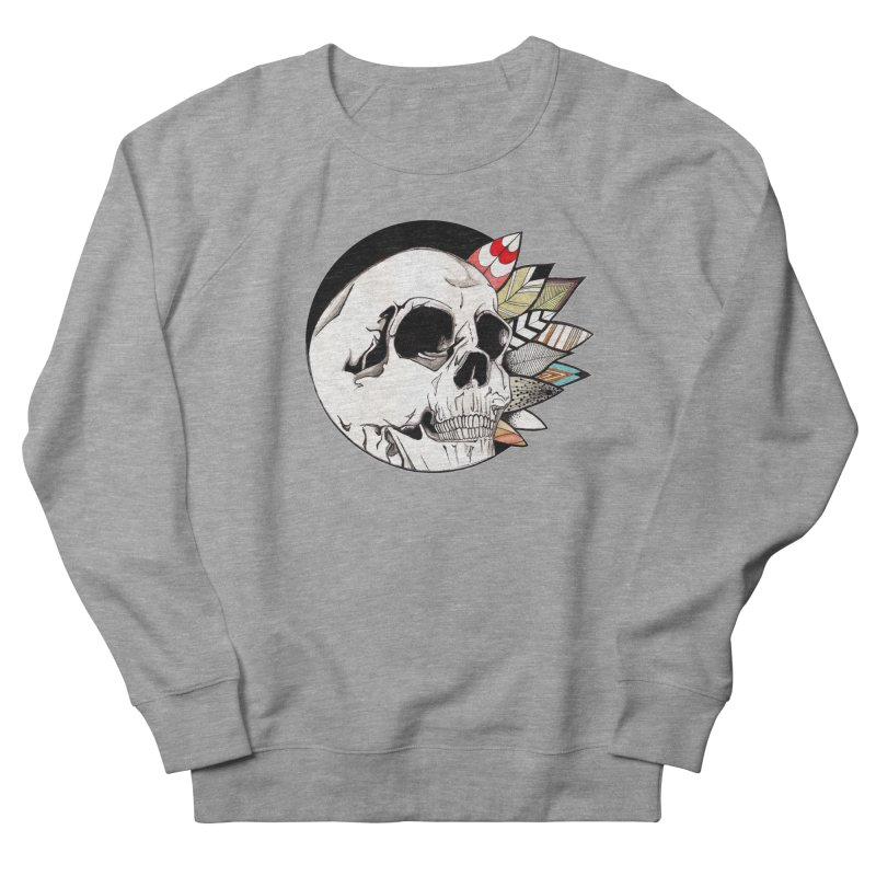 Indie Skull in Women's Sweatshirt Heather Graphite by artichoke's Artist Shop