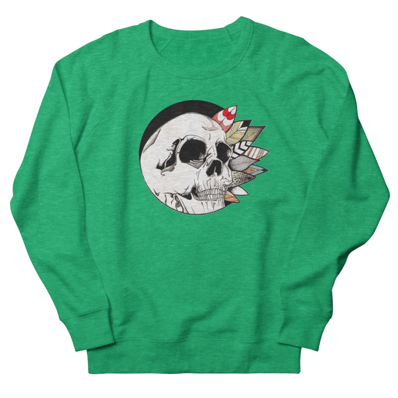 Indie Skull Men's French Terry Sweatshirt by artichoke's Artist Shop