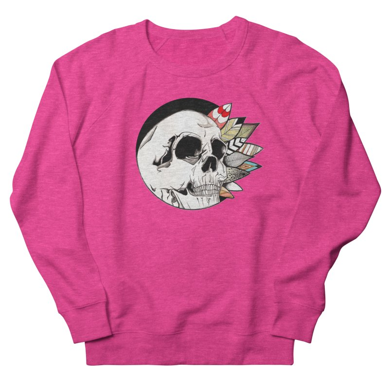 Indie Skull Men's French Terry Sweatshirt by artichoke's Artist Shop
