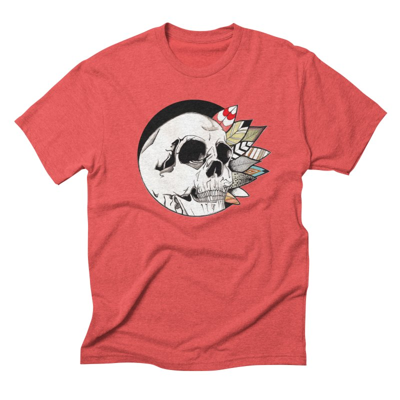 Indie Skull Men's Triblend T-shirt by artichoke's Artist Shop