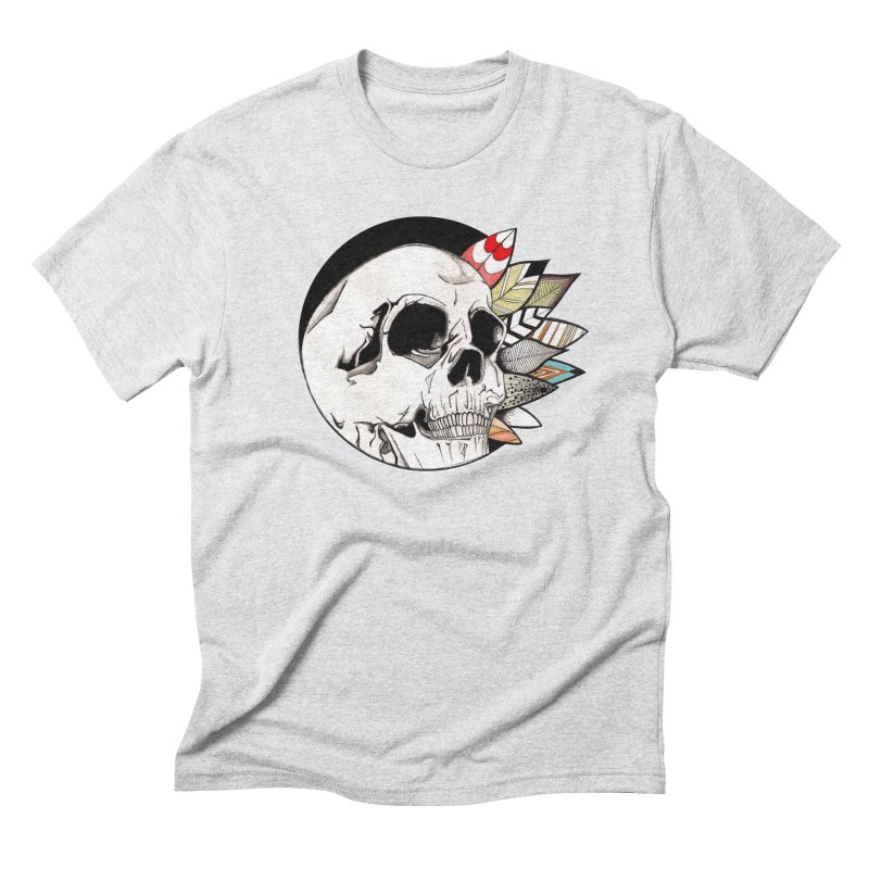 Indie Skull Men's Triblend T-Shirt by artichoke's Artist Shop