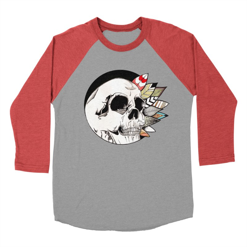 Indie Skull Men's Baseball Triblend T-Shirt by artichoke's Artist Shop