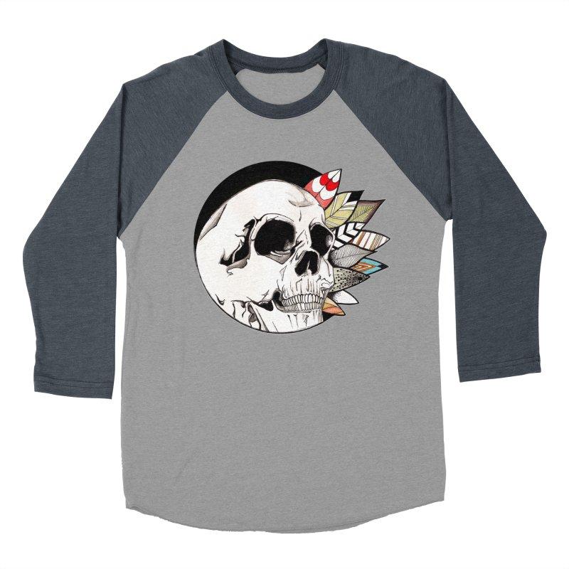 Indie Skull Men's Baseball Triblend T-Shirt by artichoke's Artist Shop