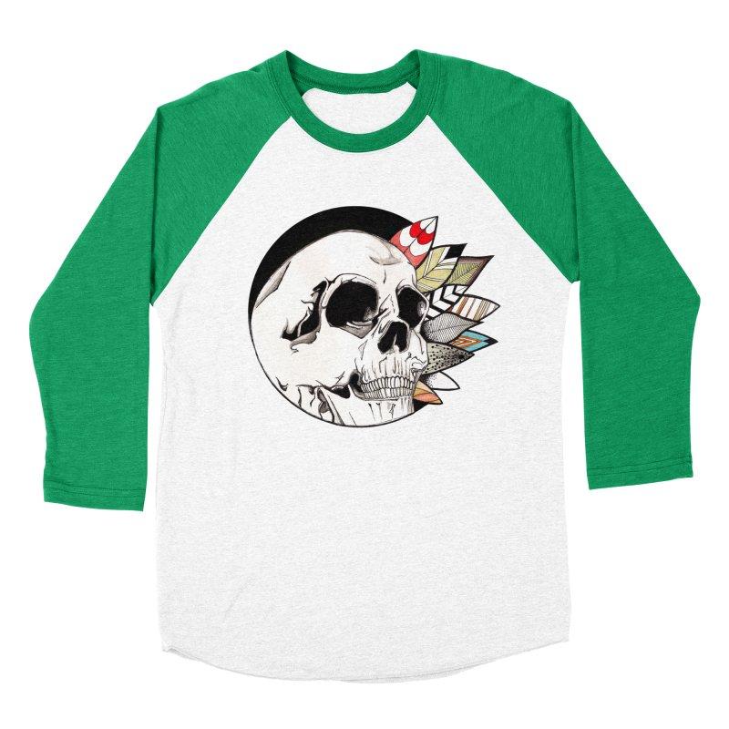 Indie Skull Men's Baseball Triblend Longsleeve T-Shirt by artichoke's Artist Shop