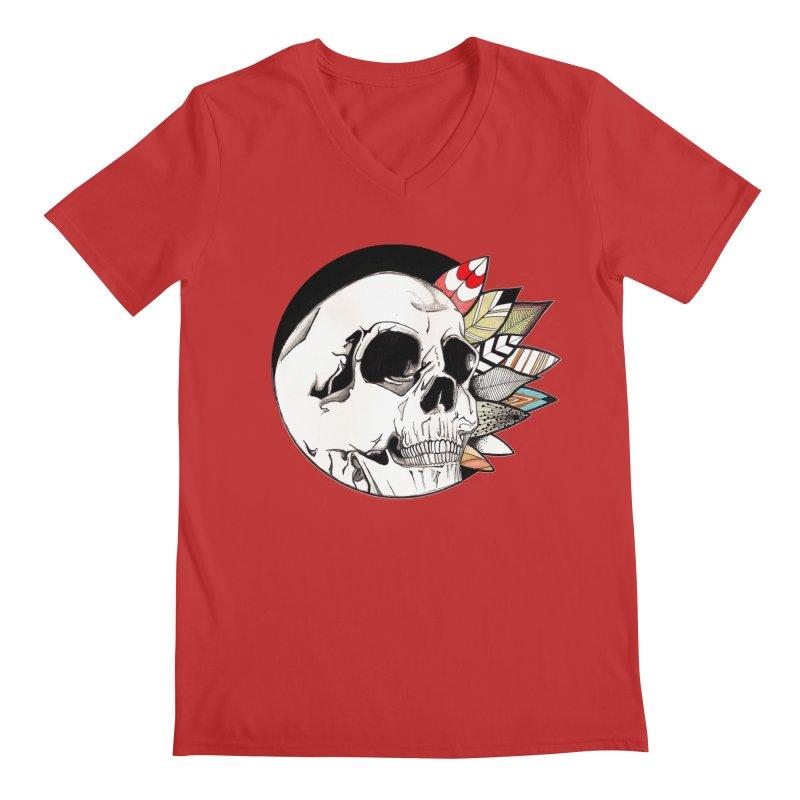 Indie Skull Men's V-Neck by artichoke's Artist Shop