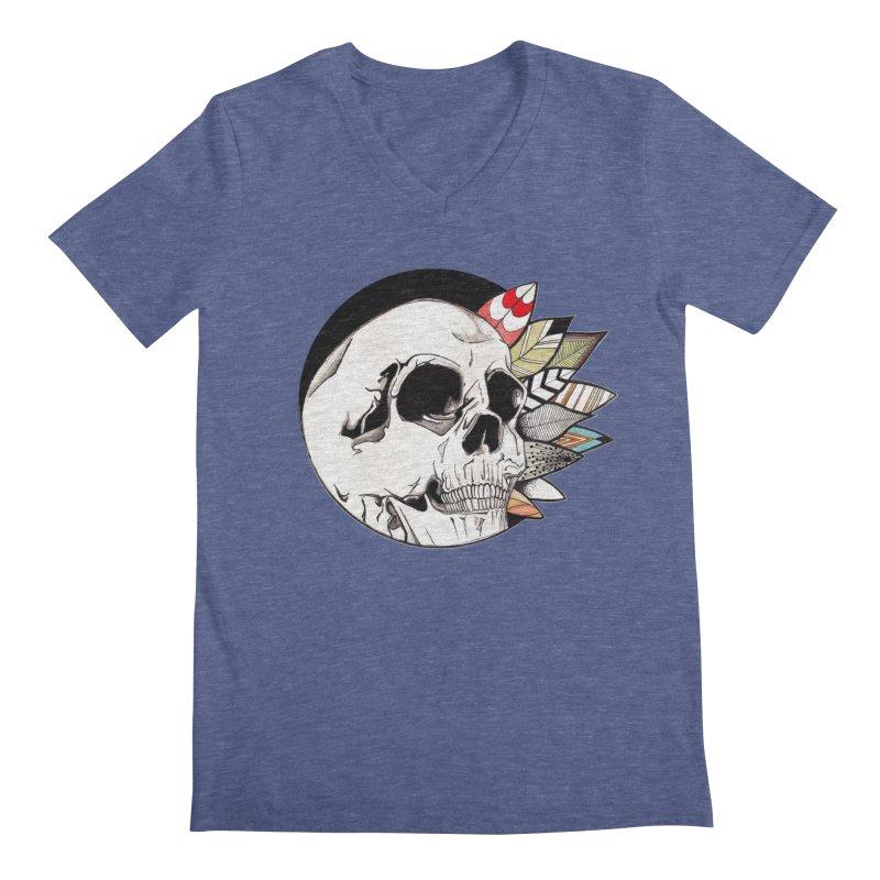 Indie Skull Men's Regular V-Neck by artichoke's Artist Shop