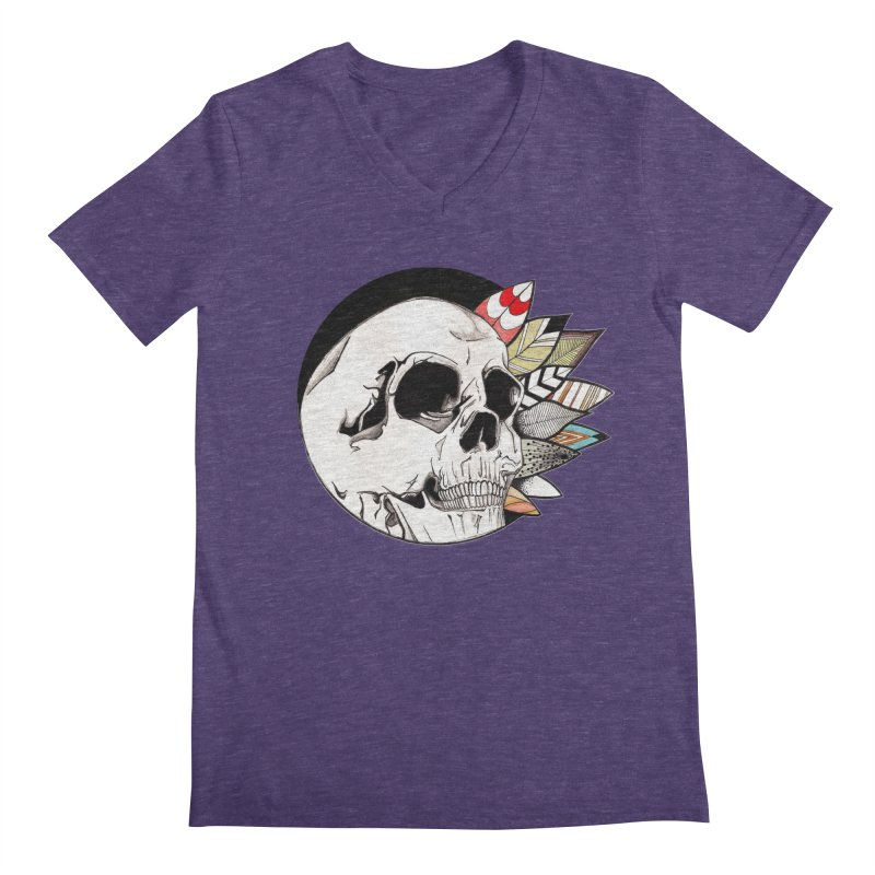 Indie Skull Men's Regular V-Neck by artichoke's Artist Shop