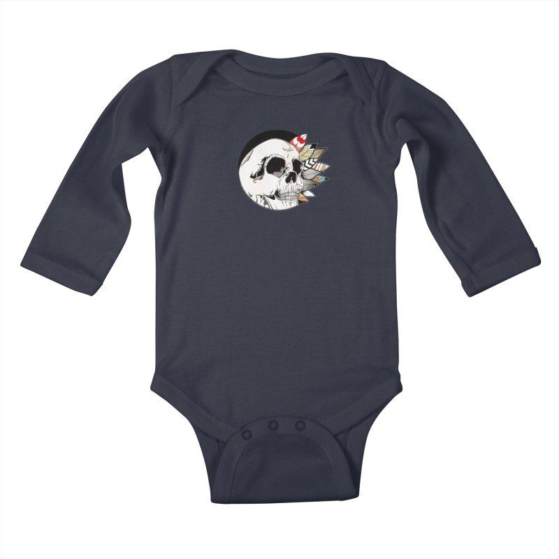 Indie Skull Kids Baby Longsleeve Bodysuit by artichoke's Artist Shop