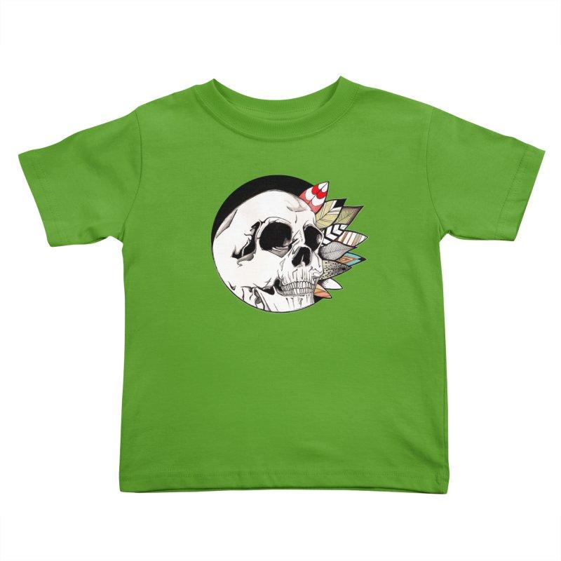 Indie Skull Kids Toddler T-Shirt by artichoke's Artist Shop