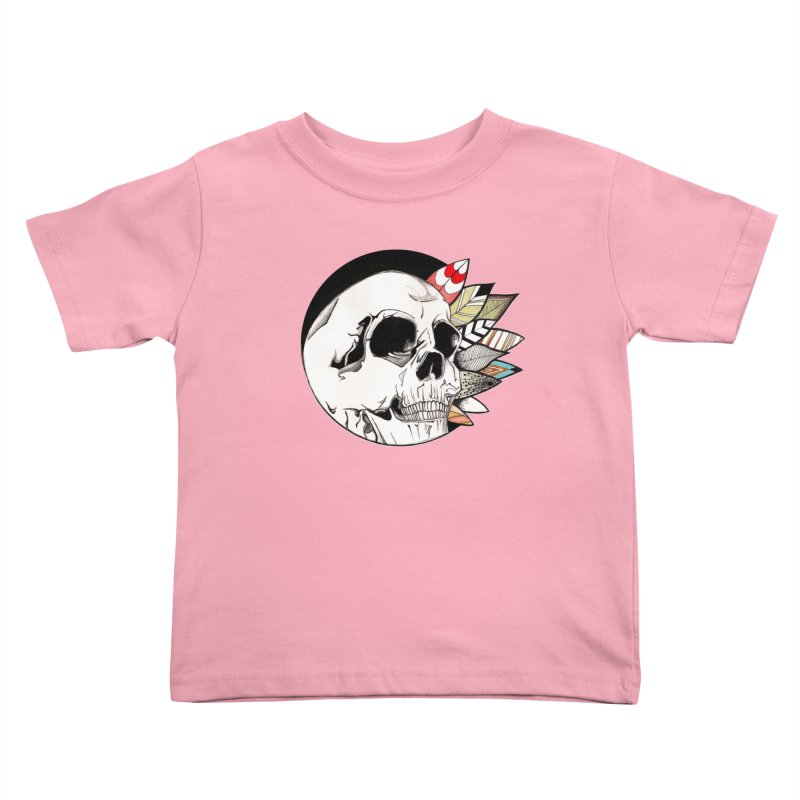 Indie Skull Kids Toddler T-Shirt by artichoke's Artist Shop