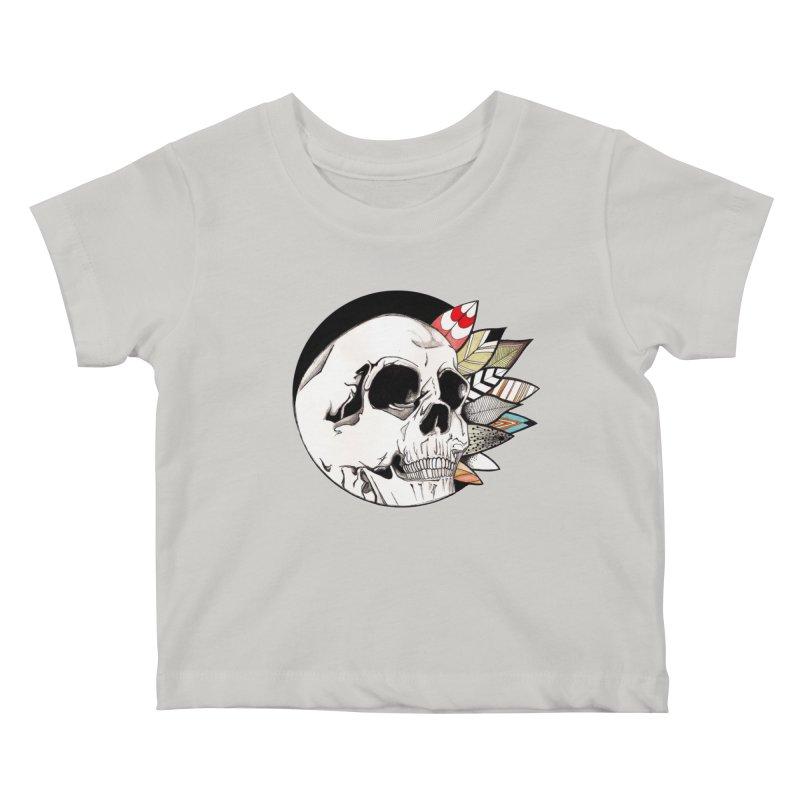 Indie Skull Kids Baby T-Shirt by artichoke's Artist Shop
