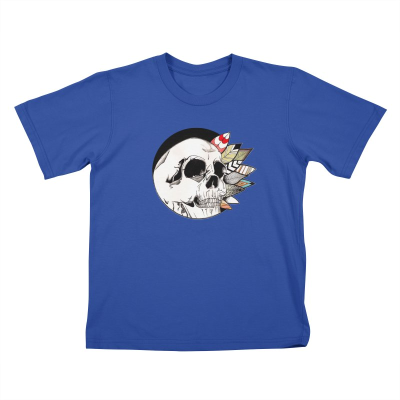 Indie Skull Kids T-Shirt by artichoke's Artist Shop