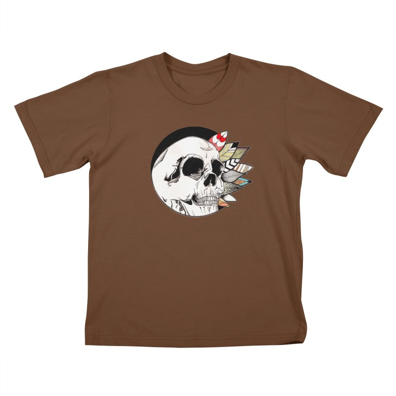 Indie Skull Kids T-Shirt by artichoke's Artist Shop