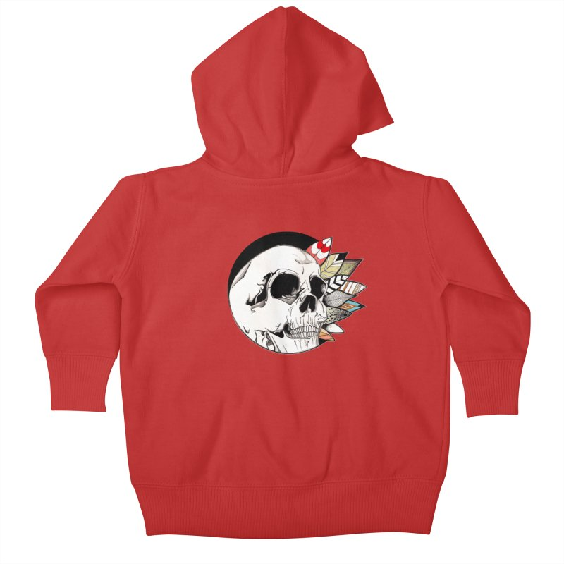 Indie Skull Kids Baby Zip-Up Hoody by artichoke's Artist Shop