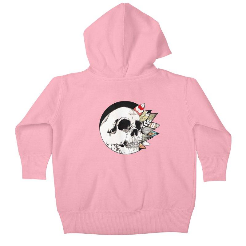 Indie Skull Kids Baby Zip-Up Hoody by artichoke's Artist Shop