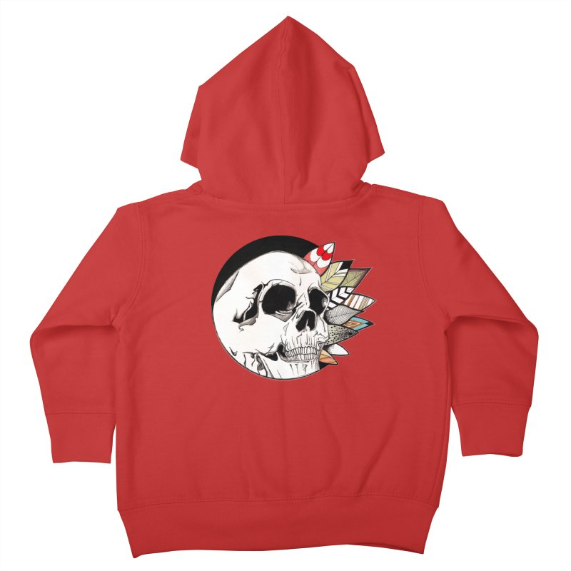 Indie Skull Kids Toddler Zip-Up Hoody by artichoke's Artist Shop
