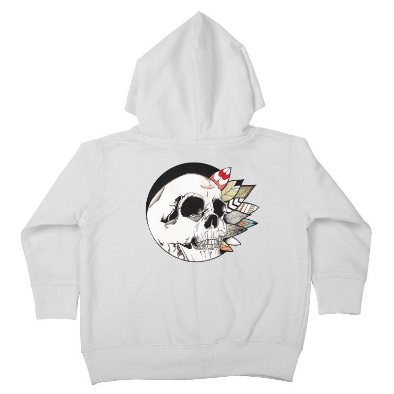 Indie Skull Kids Toddler Zip-Up Hoody by artichoke's Artist Shop