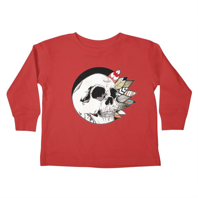 Indie Skull Kids Toddler Longsleeve T-Shirt by artichoke's Artist Shop