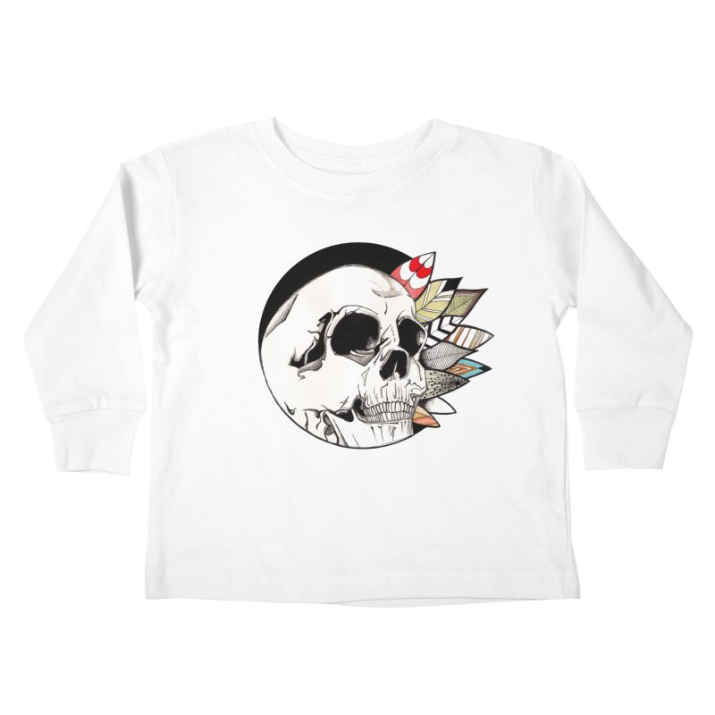 Indie Skull Kids Toddler Longsleeve T-Shirt by artichoke's Artist Shop
