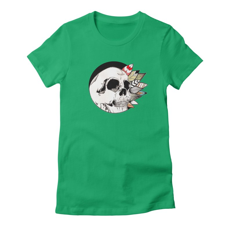 Indie Skull Women's T-Shirt by artichoke's Artist Shop