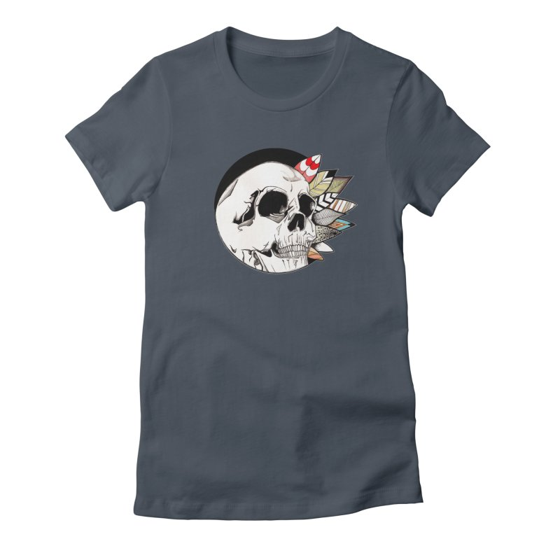 Indie Skull Women's T-Shirt by artichoke's Artist Shop