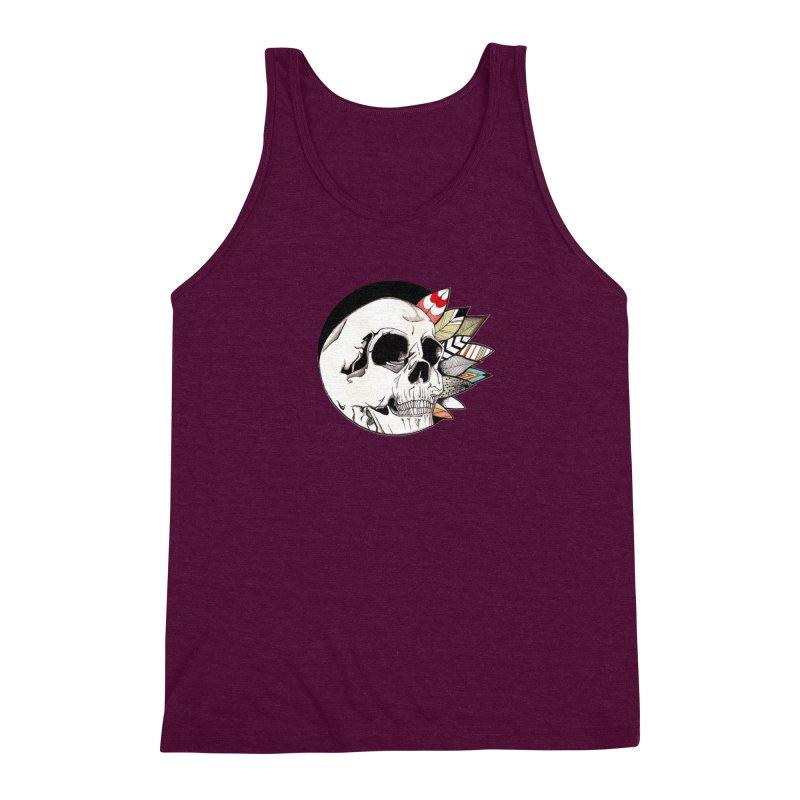 Indie Skull Men's Triblend Tank by artichoke's Artist Shop