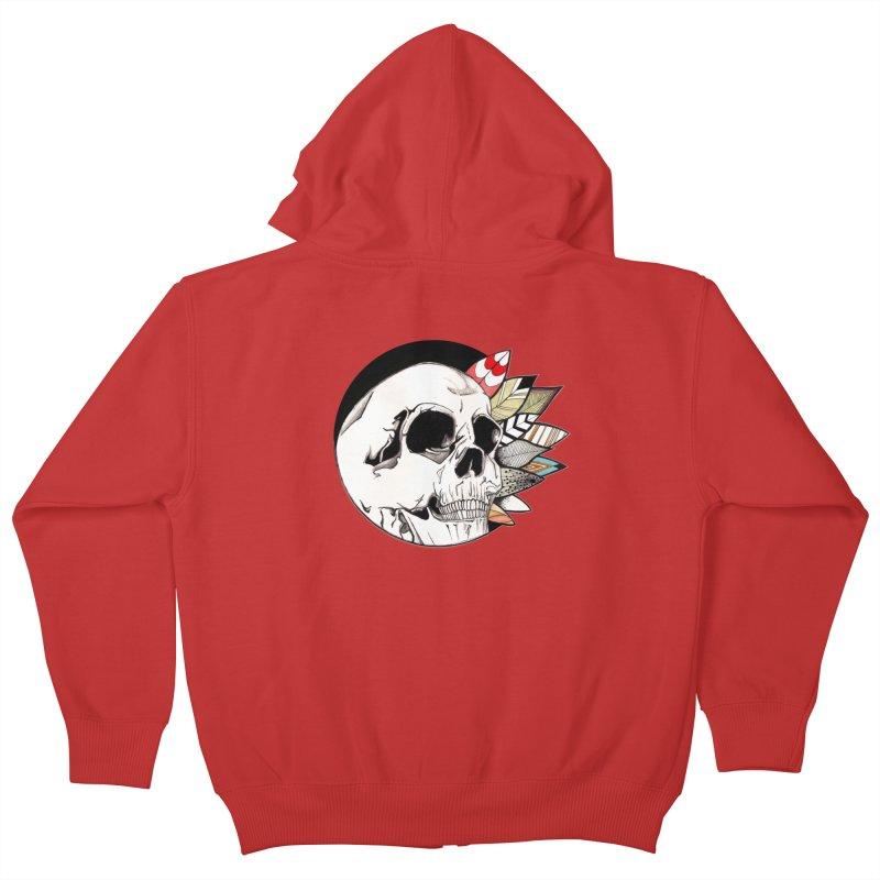 Indie Skull Kids Zip-Up Hoody by artichoke's Artist Shop