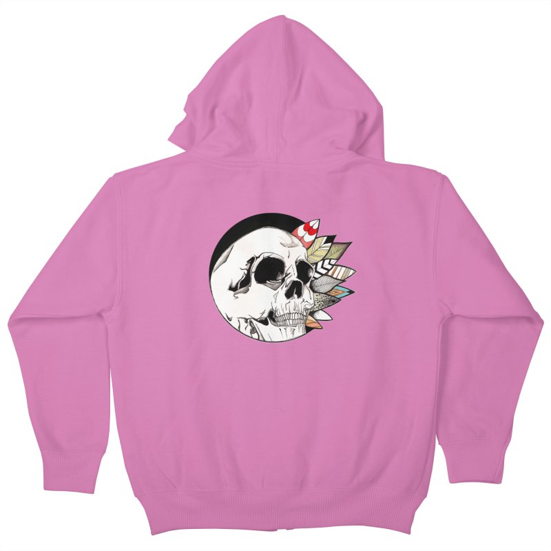 Indie Skull Kids Zip-Up Hoody by artichoke's Artist Shop