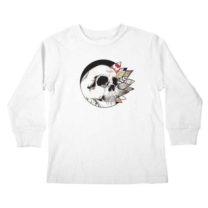 Indie Skull Kids Longsleeve T-Shirt by artichoke's Artist Shop