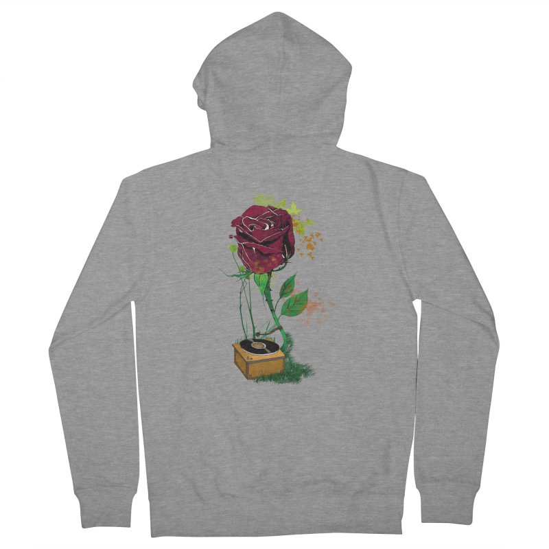 Gramophone Rose Men's Zip-Up Hoody by artichoke's Artist Shop