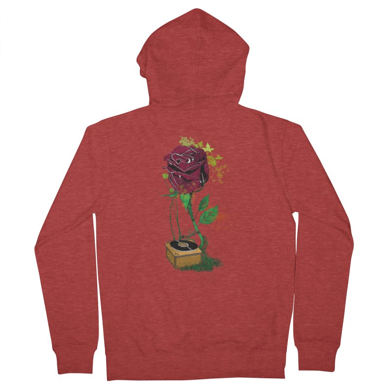 Gramophone Rose Men's Zip-Up Hoody by artichoke's Artist Shop
